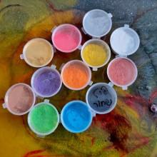 פיגמנט לאפוקסי 12 גוונים -פיגמנט מיקה, אבקות פנינה