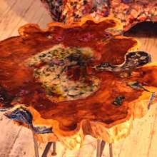 אפוקסי לעץ-הכנת שולחן-לימודי אבוקסי