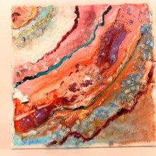 פיגמנטים לאפוקסי-אגטים וטכניקות של צבע
