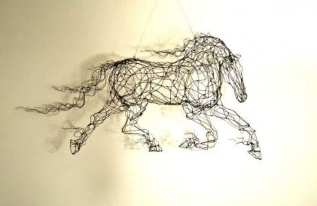 קישוטים לקירות הבית-סוסים