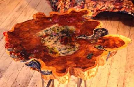 הכנת שולחן עץ ואפוקסי